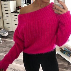 Vici Dolls Twinkle Pink Fuzzy Dress Sweater NEW